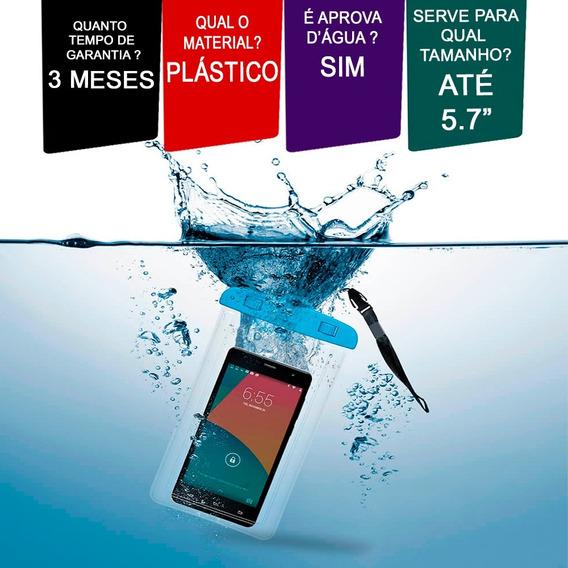 Bolsa Case Capa Estanque Prova Dagua iPhone Android Celular.