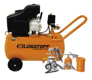 Compresor 50l Con Kit 5 Piezas Lusqtoff Lc-2550bk