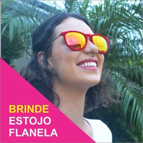 30348521c Oculos De Sol Redondo Espelhado Vermelho - Óculos De Sol no Mercado ...