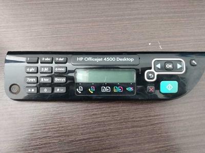 Painel De Controle Da Impressora Hp Officejet 4500 Desktop