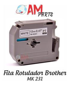 Fita Compatível Para Brother Pt-80 Pt80 M-k231 M-231 12mm