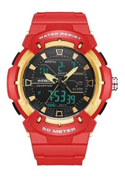 Relógio Analógico E Digital Weide Modelo Wa-3j8008
