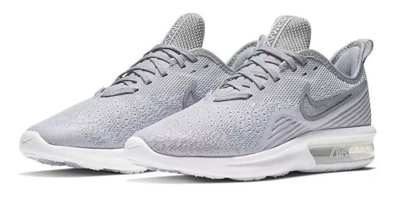 Tenis Nike Mujer Gris Air Max Sequent 4 Ao4486100