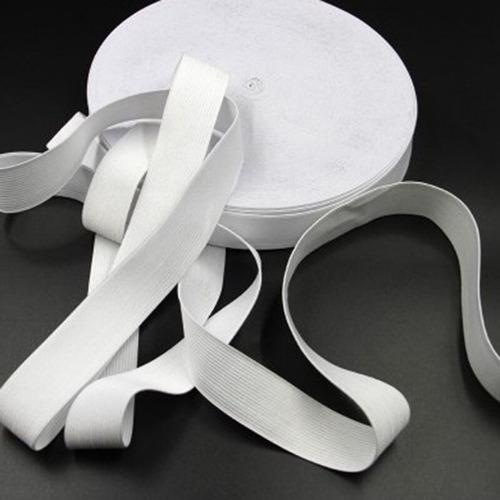 Elástico Industrial Super Reforzado 25m X 40mm Blanco