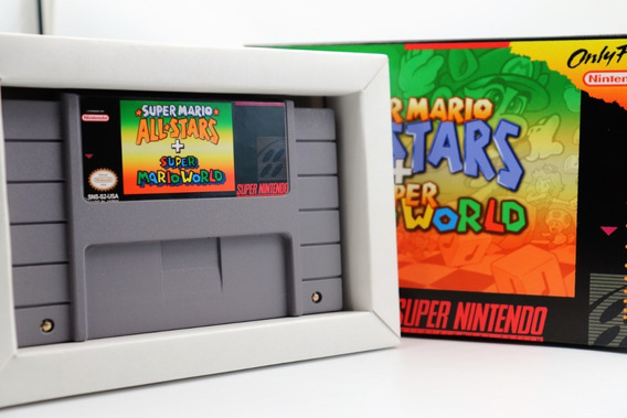 Mario World +mario All Stars Para Super Nintendo Caixa+berço