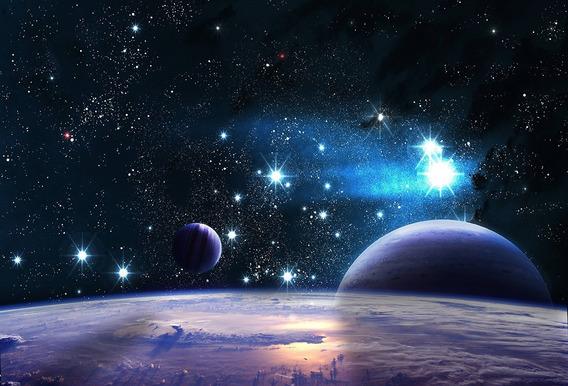 Fundo Fotográfico Tecido Galáxias E Planetas 2,20m X 1,50m