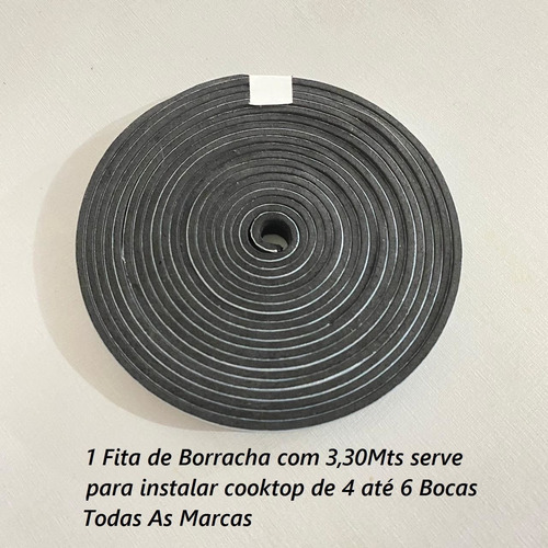 Imagem 1 de 6 de Borracha Fita Cola Vedação Fogão Cooktop Electrolux Brastemp