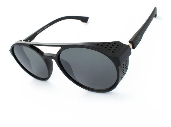 Oculos Steampunk Zoe Sol Masculino Sm105p Alok Uv400 + Case