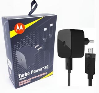 Carregador Turbo Motorola Com Cabo Tipo C