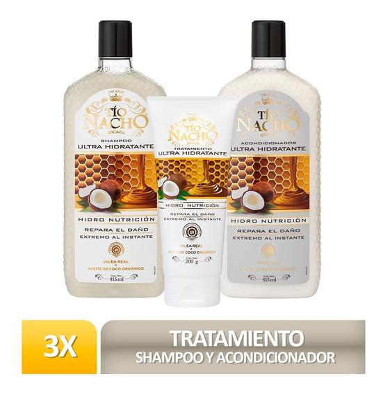 Pack Tío Nacho Ultra Hidratante Shamp + Acondic+ Tratamiento