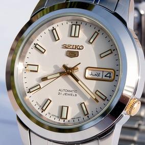 Relógio Seiko 5 Japan Automático Snkk07j1 Fundo Branco