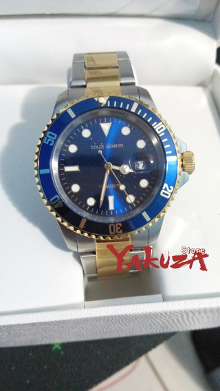 Relógio Dolce Segreto Submariner Misto Dourado Italiano Rlx