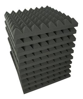 10 Piezas Espuma Panel Acustico Pirámide