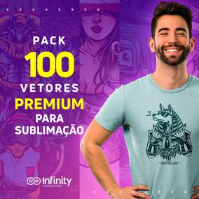 Pack 100 Estampas Premium Para Sublimação