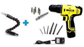 Parafusadeira Furadeira 12v Bivolt+eixo Flexivel Hammer