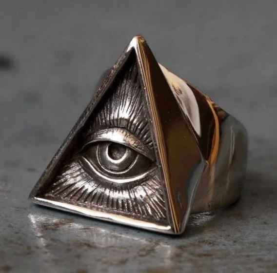 Anel Iluminati Em Aço Inoxidável