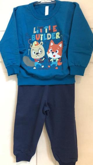 Pijama Infantil Moletom Malwee Menino