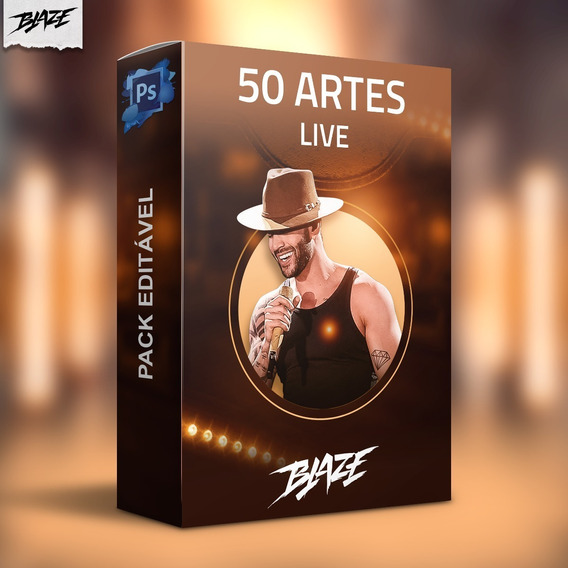 Pack 50 Artes Live Editável Photoshop Psd + Brinde