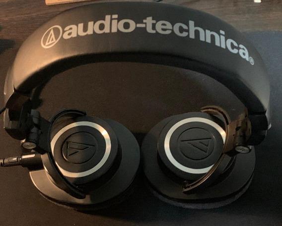 Fone De Ouvido Audio Technica Ath-m50x Funcionando 100%