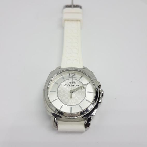 Relógio Coach Feminino Borracha Branca - 14502093