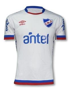 Camiseta Nacional Blanca 2018 Con Sponsors Hombre Futbol