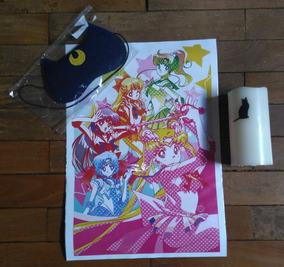 Kit Sailor Moon: Pôster + Luminária + Máscara De Dormir