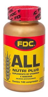 All Nutri Plus Fdc 140 Comprimidos Polivitamínico Importado