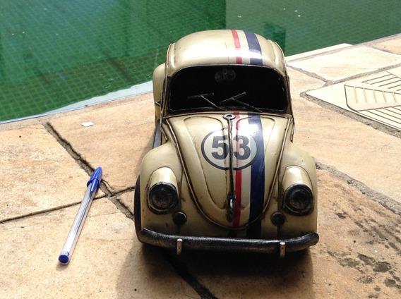 Fusca 53 Herbie Miniatura Artesanal Rustica - Coleção