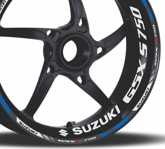 Friso + Adesivo Refletivo Roda D5 Moto Suzuki Gsx S 750