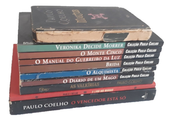 Lote Com 10 Livros Do Autor Paulo Coelho