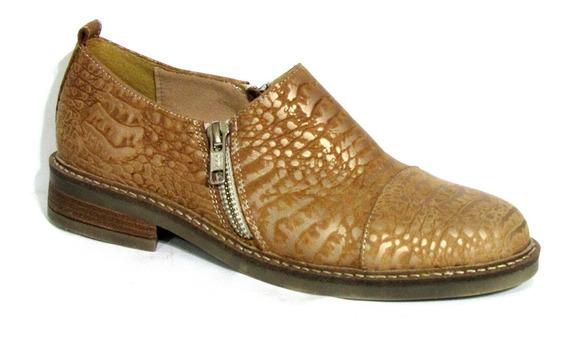 Zapatos Botinetas De Cuero Doble Cierre Calzados New Pierre