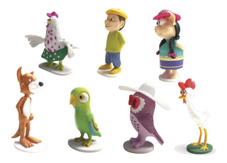 Clarín Colecciones Granja De Zenon Set 1 De 7 Figurines