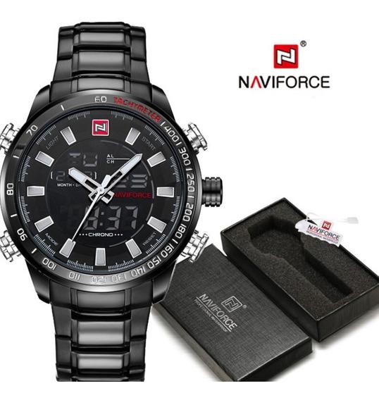 Relógio Masculino Naviforce Nf 9093 Pronta Entrega Com Caixa