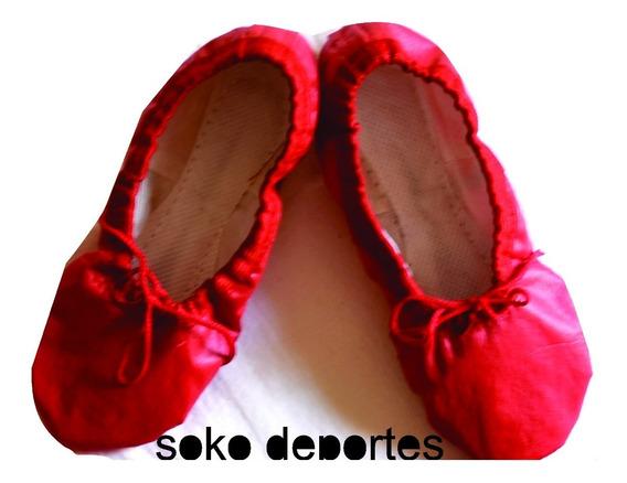 Zapatillas Badanas Doradas Plateadas Rojo Fucsia Violeta Danza Ballet Soko