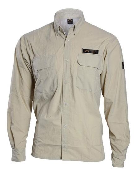 Camisa Camiseta Blusa De Pesca Uv Com Botão Tn Terra Nativa