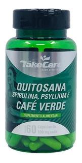 Quitosana Spirulina Psyllium E Café Verde 60 Cáps Emagreça