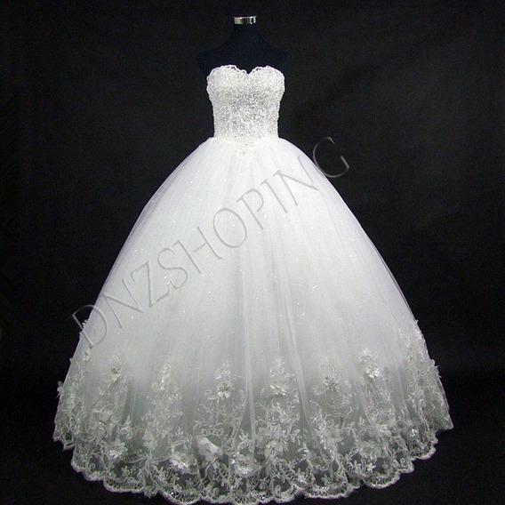 Vestido De Noiva Baile + Frete Grátis Sob Encomenda