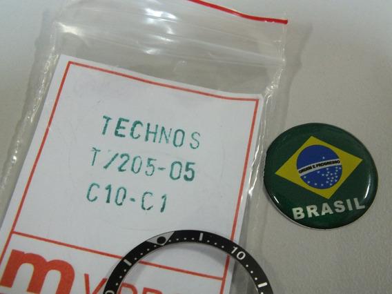 Decalque Relogio Technos T205-05- Brasil Relógios.