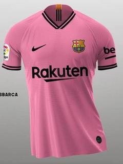Camisa Oficial Barcelona Nike Visitante Rosa 2020/2021