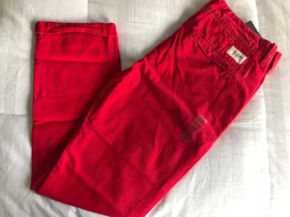 Jeans Rojos Abercrombie & Fitch Hombre Tallas 32 X 32.