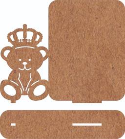 80 Porta Retrato Lembrancinha Ursinho Principe Mdf Cru
