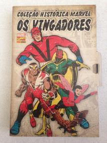 Coleção Histórica Marvel Os Vingadores 5 Ao 8 Com Box.