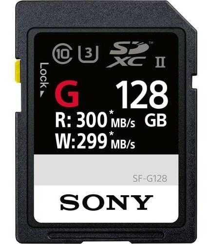 Cartão Sdxc 128gb Sony Uhs-ii U3 Série G 300mb/s (classe10)