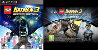 Lego Batman 3 Beyond Gotham + Season Pass Dlc ~ Ps3 Digital