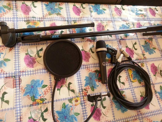 Kit Microfone Akg D5 + Pedestal Ask + Popfilter Arcano