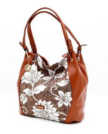 Cartera Wasabi Modelo Flor (marrón) - Maxime #46ws038