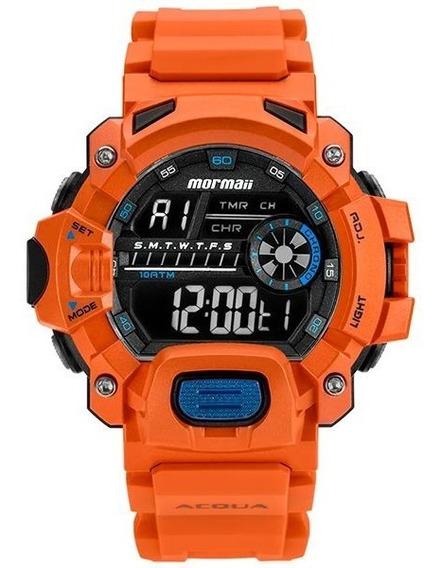 Relógio Mormaii Acquaforce Mozm1132/8l Laranja