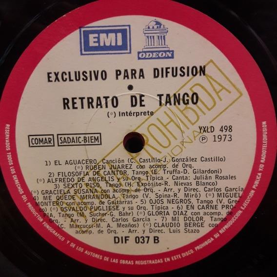 Sin Tapa Disco Retrato De Tango Pugliese Juarez Montero Diaz