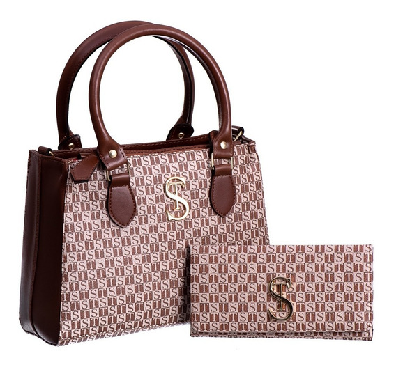 Kit Bolsa De Lado Feminina E Carteira 472 Dubai Frete Gratis