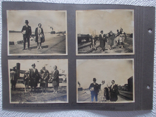 6799- Lote 4 Fotos A Bordo Cdad. San Fernando A Campana 1928